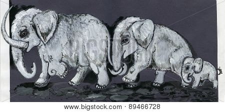 Mammoths family
