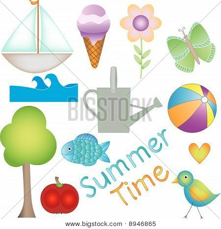 Summer Time vector graphics