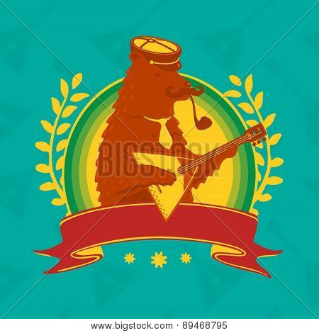 Symbol Bear With Balalaika