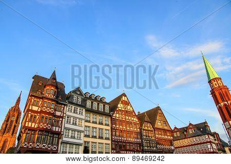Historic Center Of Frankfurt.