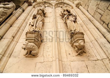 Detail Of The Cathedral Of Regensburg.
