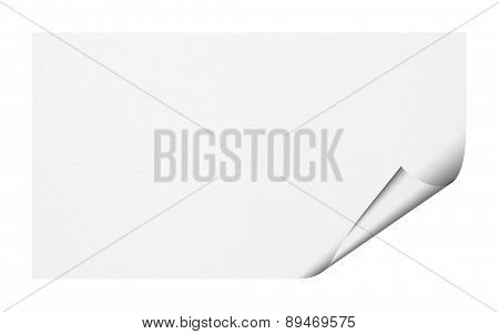 Scroll Paper On White Background.