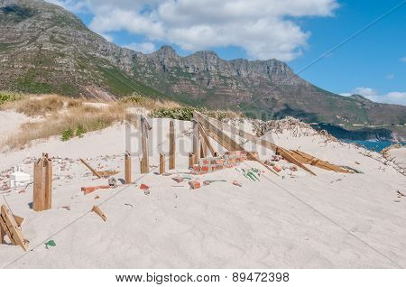 Old Police Station At Hout Bay Reclaimed By Sand