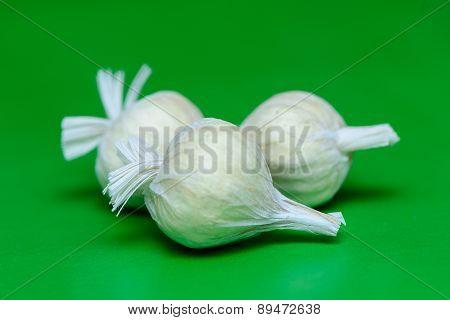 Mature Garlic Closeup
