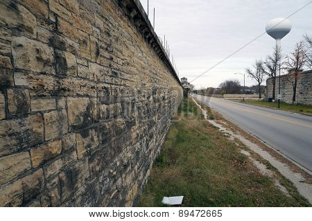 Wall of the Old Joliet Prison
