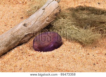 Amethyst On Beach