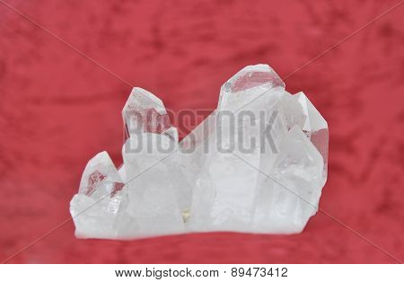 Rock Crystal On Red