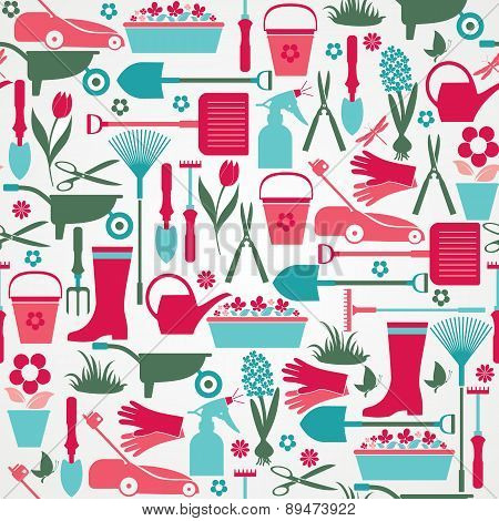 Seamless garden pattern.