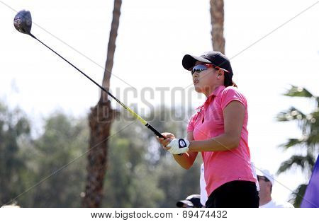 Jennifer Song at the ANA inspiration golf tournament 2015