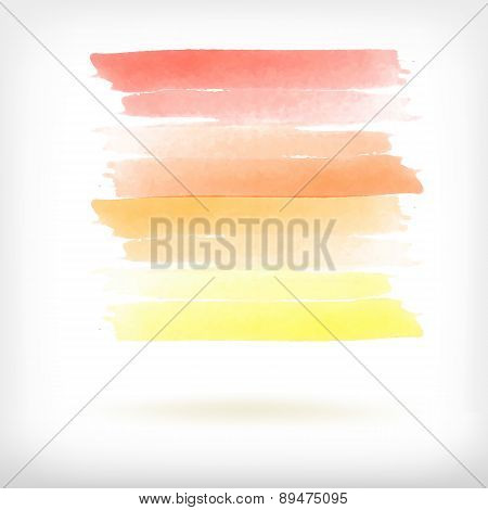Vector abstract watercolor brush design elements