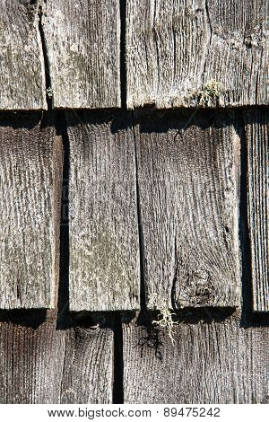 rustic wooden shingles