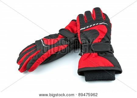 Ski Black-and-red Gloves