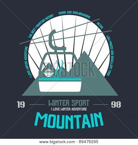 Mountain Winter Sport Emblem