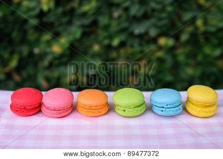 Colorful Mini Macarons
