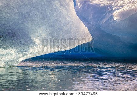 Iceberg melting in Jokulsarlon Lagoon in Iceland