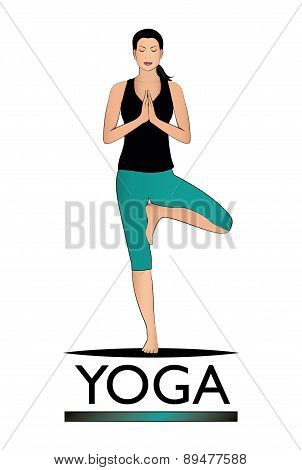 Yoga vector logo.