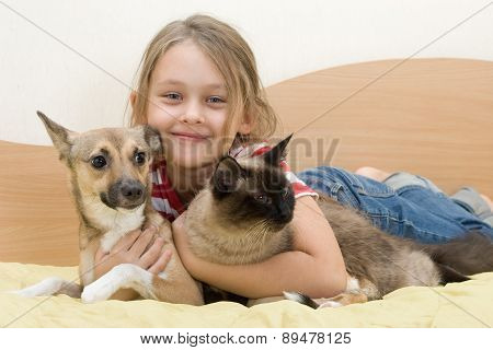 Girl With Pets