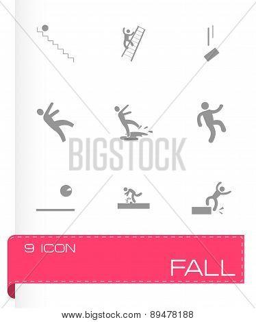 Vector fall icon set