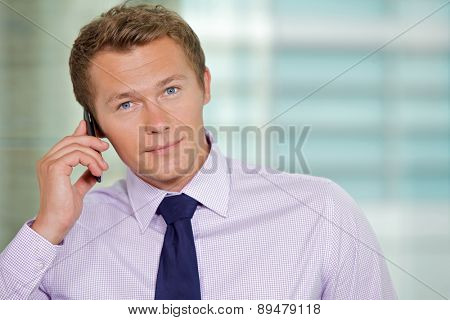 Portrait of businessman at office