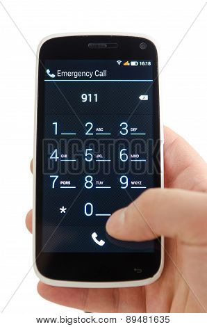 Dial 911 on Smart Phone