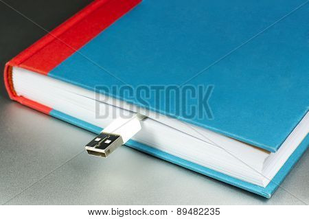 Book And Flash Drive