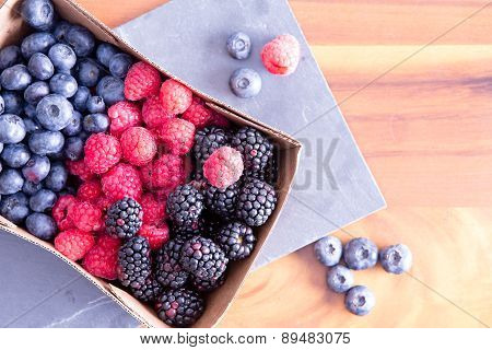 Box Of Fresh Seasonal Autumn Berries