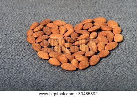 Heart shaped Almonds