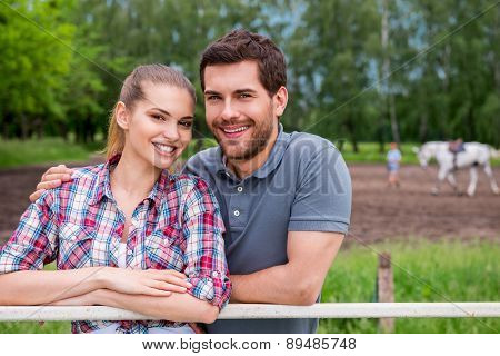 Couple On Ranch.