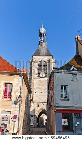 Bell Tower (xvi C.) Of Notre Dame Du Val In Provins, France. Unesco Site