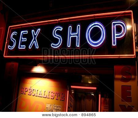 Sex Shop sinal de néon