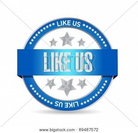 Like Us Seal Sign Concept Illustration