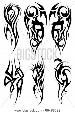 Set Of Tribal Tattoos