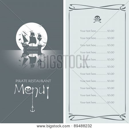 Pirate menu