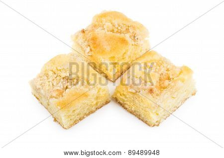 Pieces Of Pie Isolated On White Background