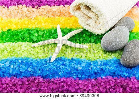 Sea Salt With Sea Star And Bath Towel