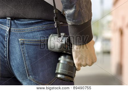 Carrying Photo Camera