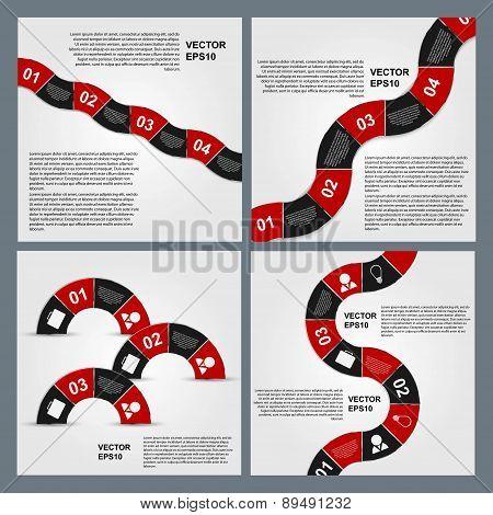 Set Of Infographics. Vector Design Template.