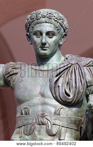 Bronze Statue Of The Roman Emperor Constantine