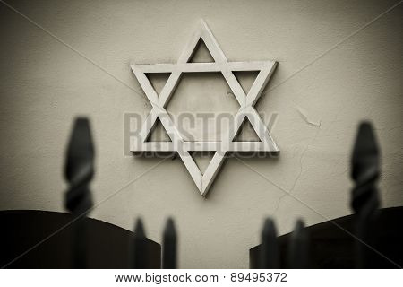 Symbol of Jewish star.