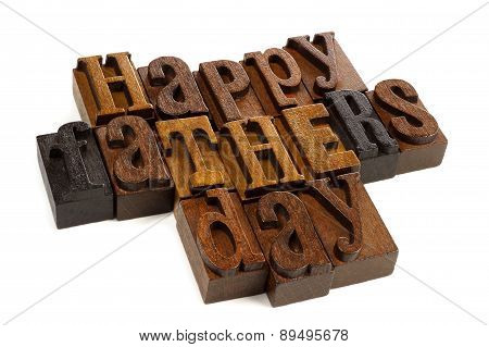 Happy Fathers Day vintage wood letters