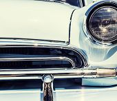 picture of headlight  - Close up photo of a retro car headlights - JPG