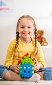 Girl With Lego House poster