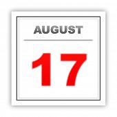 picture of august calendar  - August 17 - JPG
