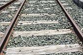 picture of train track  - Train tracks - JPG