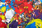 picture of paint spray  - Abstract acrylic modern painting fragment - JPG