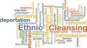 picture of deportation  - Background concept wordcloud illustration of ethnic cleansing - JPG