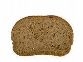 picture of fresh slice bread  - Fresh rye bread slice isolated on white background - JPG