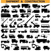 image of construction machine  - Commercial vehicles pictograms - JPG