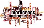 stock photo of motocross  - Motocross word cloud concept - JPG
