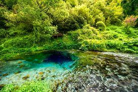 picture of albania  - National landmark spring Blue Eye in Albania - JPG